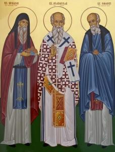 св.Никодим(справа в синем)